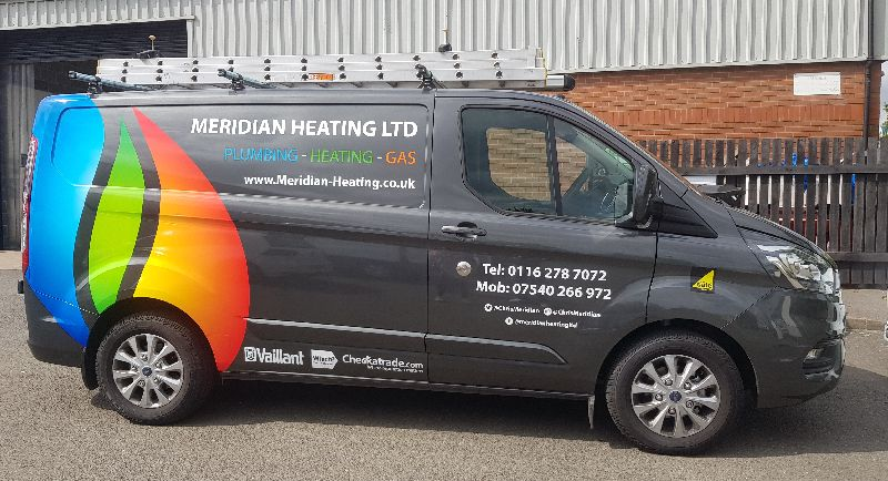 meridian heating in Leicester Wigston Oadby Countesthorpe Blaby van
